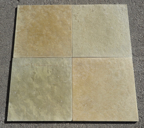 "Brushed Kota Brown Limestone Tile - 18"" x 18"" x 5/8"""
