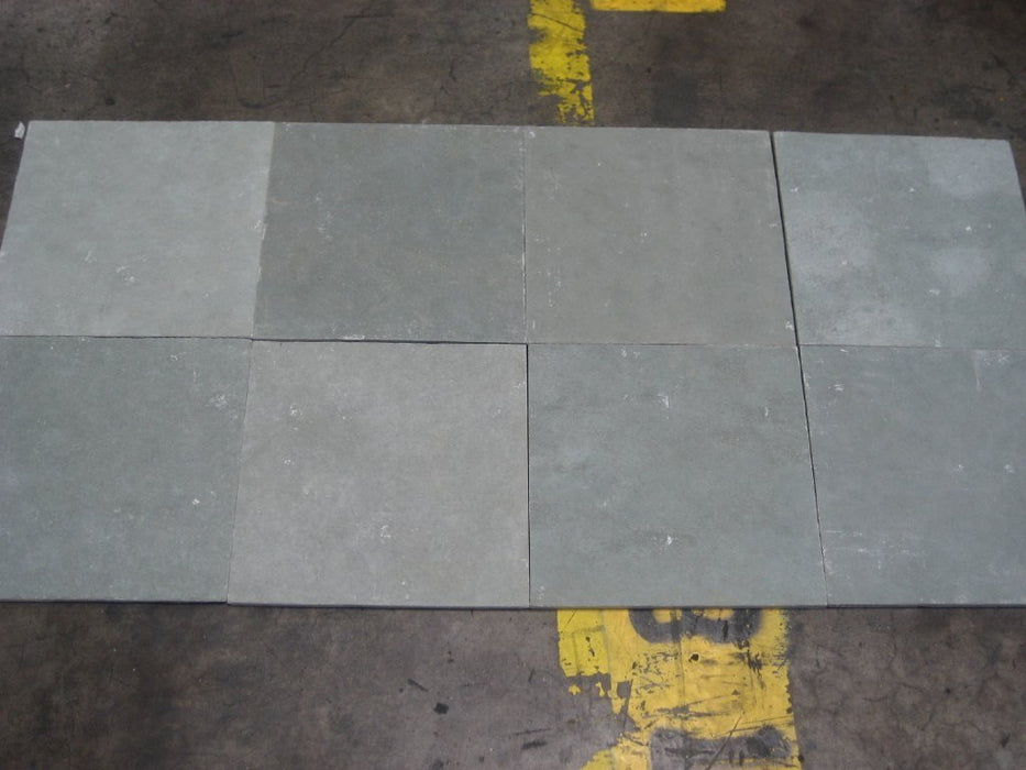 "Natural Cleft Face & Back, Kota Blue Limestone Tile - 12"" x 12"" x 1/2"" - 5/8"""