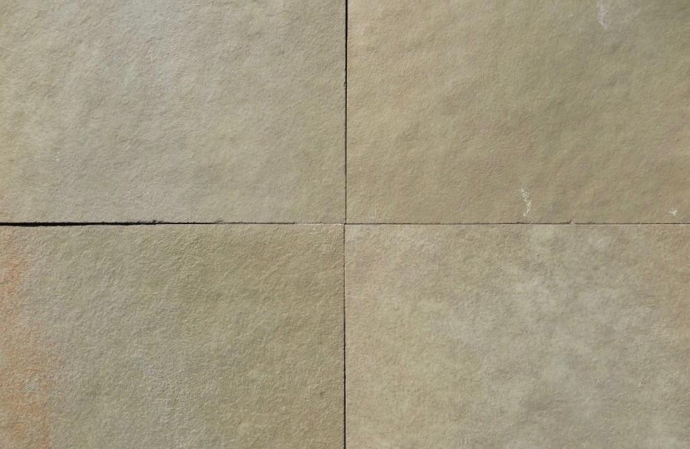 "Full Tile Sample - Kota Brown Limestone Tile - 8"" x 16"" x 3/8"" - 5/8"" Natural Cleft Face & Back"
