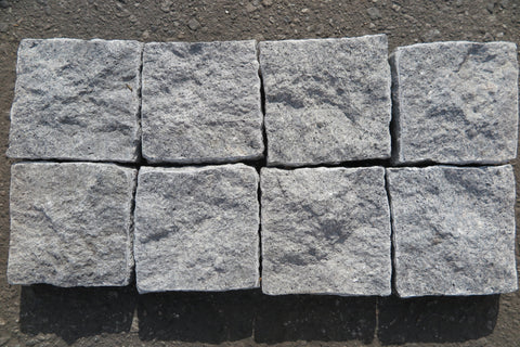 "Light Grey Porphyry Paver - 4"" x 4"" x 3/4"" Split Face"