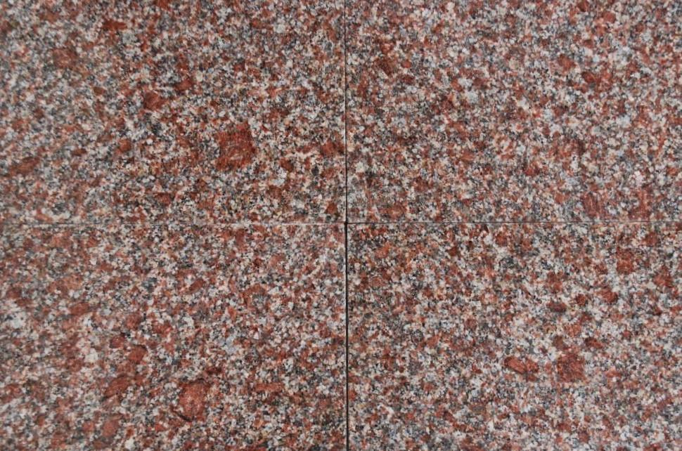 "Full Tile Sample - Mahogany Granite Tile - 12"" x 12"" x 3/8"" Polished"