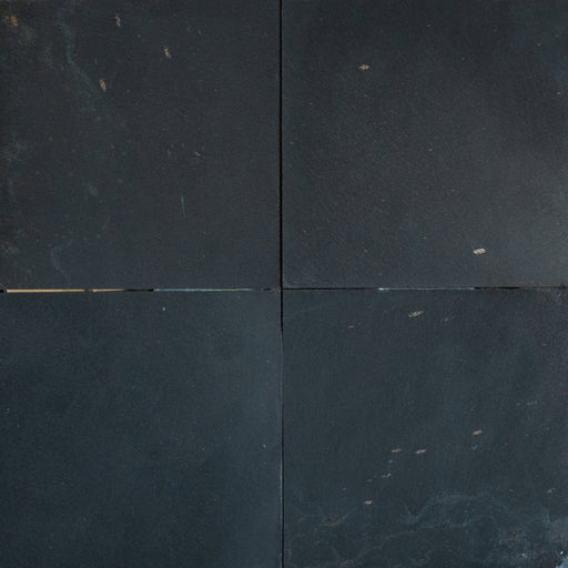 "Midnight Black Slate Tile - 16"" x 16"" x 3/8"" - 1/2"" Honed"