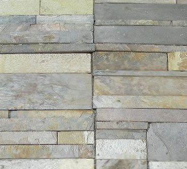 "Multi Color & Tree Green Slate Ledgestone - 6"" x 24"" x 1/2"" - 3/4"" Natural Cleft Face & Back"