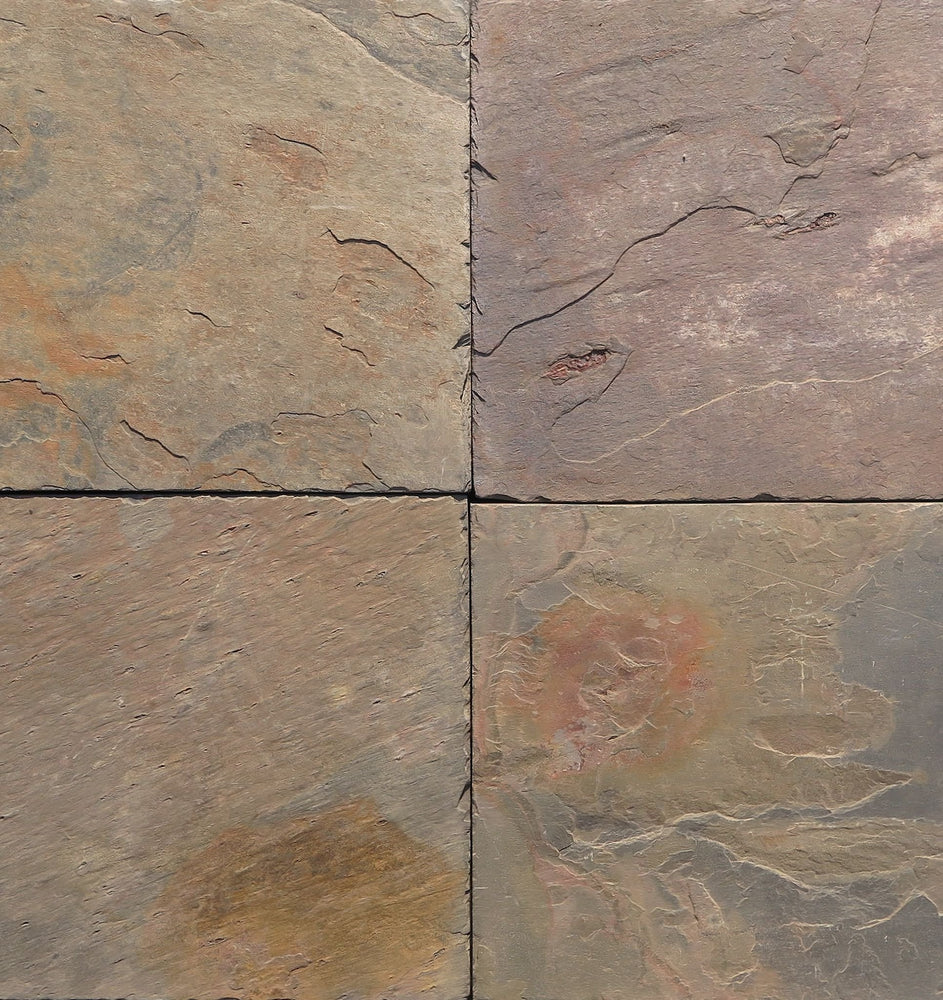 "Full Tile Sample - Multi Color Classic Slate Ledgestone - 6"" x 24"" x 3/8"" Natural Cleft Face & Back"