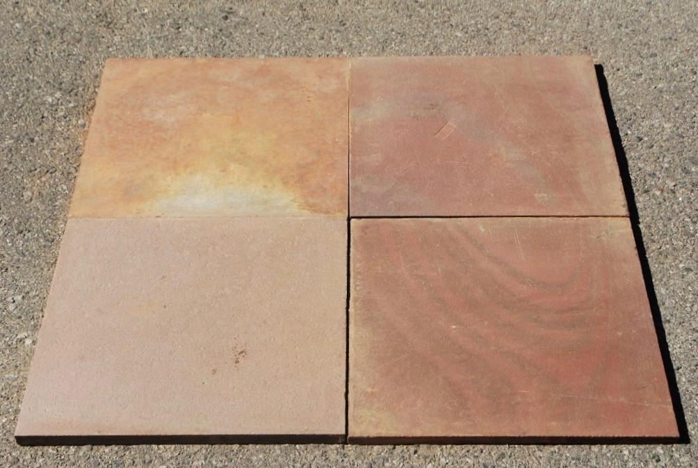 "Multi Color Red Slate Tile - 16"" x 16"" x 1/2"" Natural Cleft Face & Back"