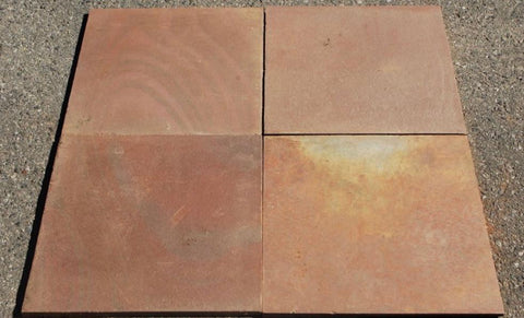 "Multi Color Red Slate Tile - 12"" x 12"" x 3/8"" Natural Cleft Face & Back"