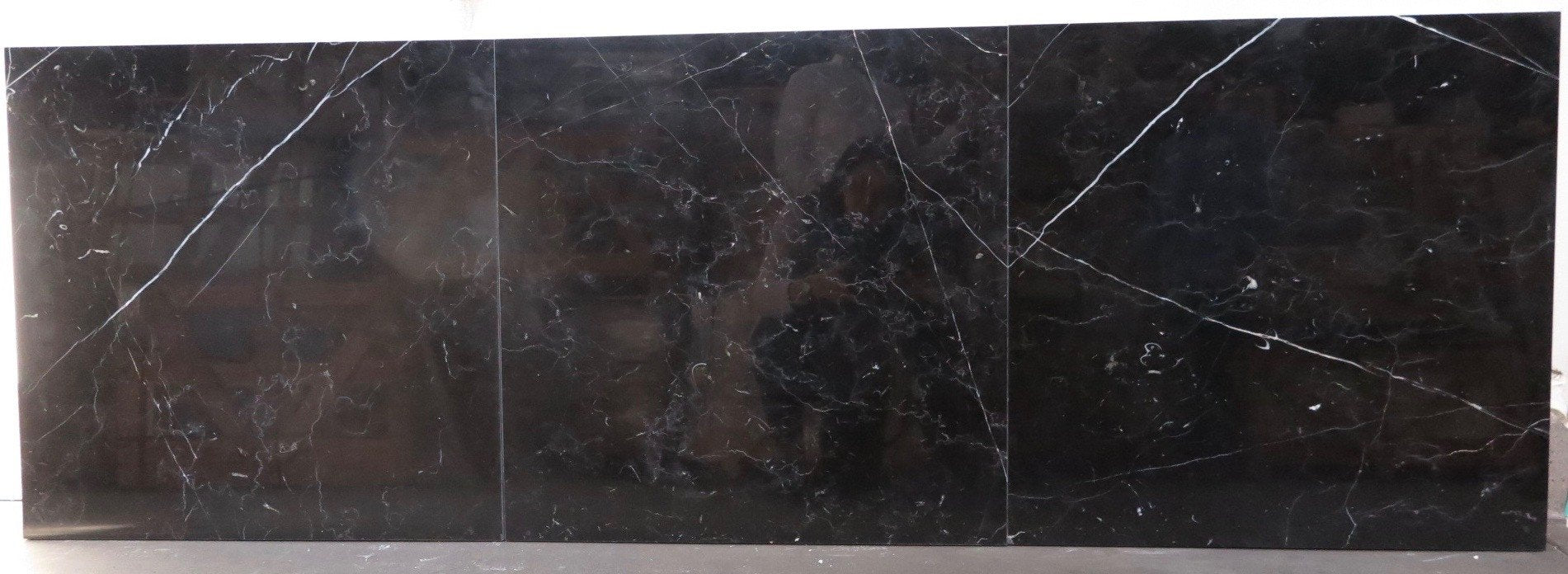 Polished Nero Marquina Marble Tile