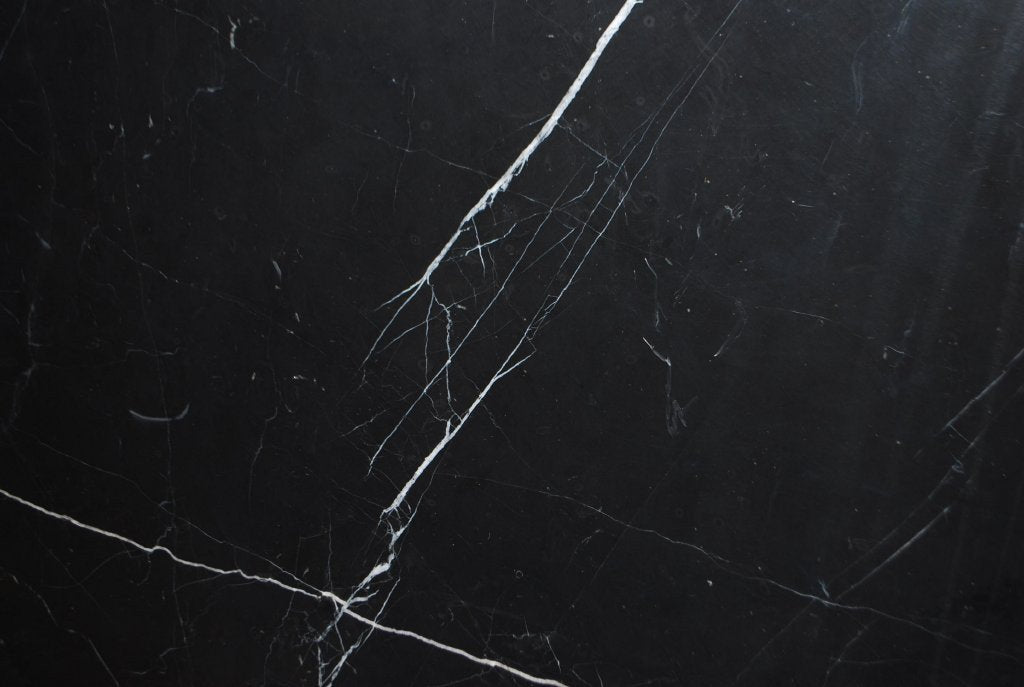"Full Tile Sample - Nero Marquina Marble Tile - 18"" x 18"" x 1/2"" Polished"