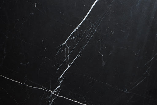 "Full Tile Sample - Negro Marquina Marble Tile - 18"" x 18"" x 1/2"" Polished"