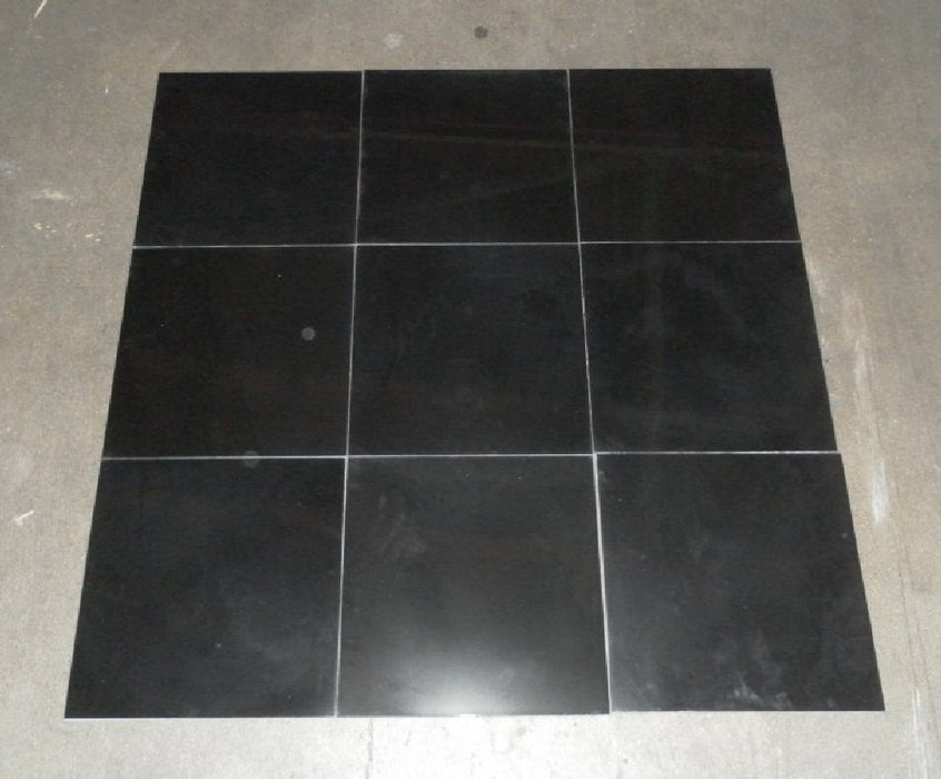 "Polished Negro Oriental Absolute Marble Tile - 12"" x 12"" x 3/8"""