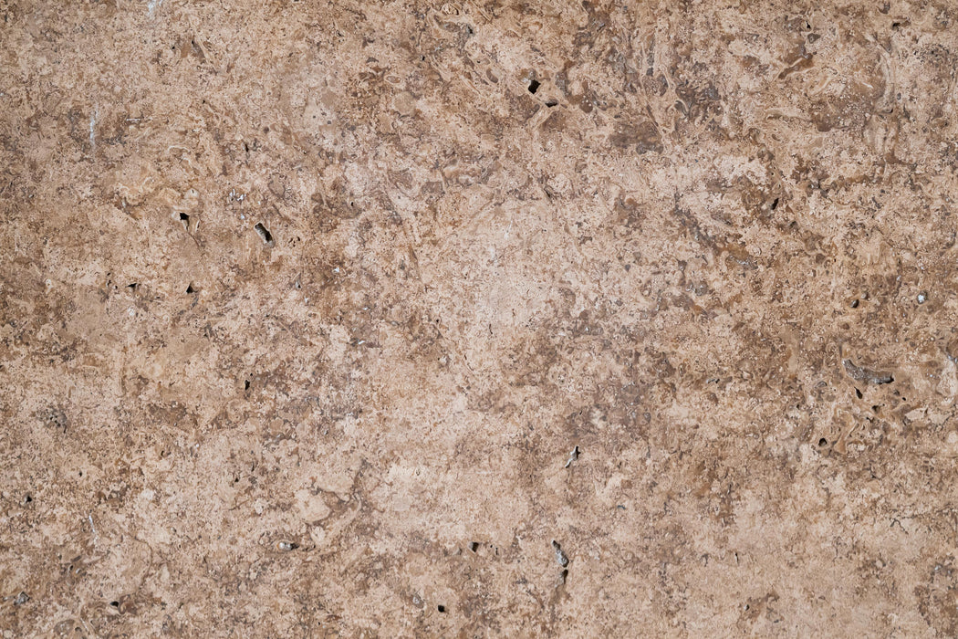 "Full Tile Sample - Noche Travertine Tile - 12"" x 12"" x 3/8"" Honed"