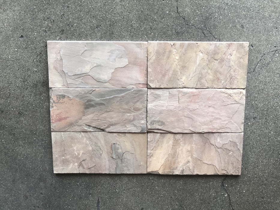 "Old Copper Blend Slate Tile - 2"" x 8"""