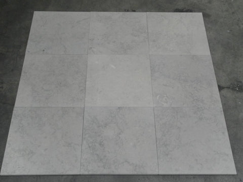 "Oyster Blue Limestone Tile - 12"" x 12"" x 3/8"" Honed"