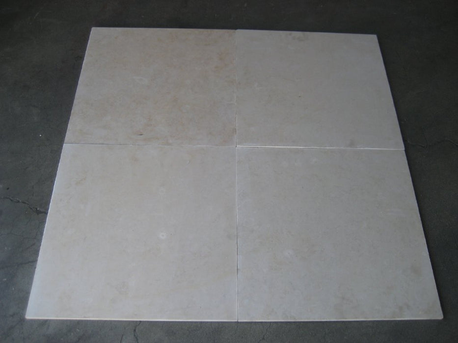 "Honed Oyster Cream Marble Tile - 18"" x 18"" x 1/2"""
