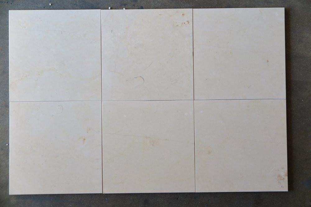 "Oyster Cream Marble Tile - 12"" x 12"" x 3/8"""