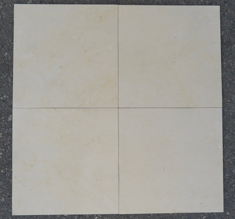 "Oyster Cream Marble Tile - 18"" x 18"" x 1/2"" Honed"