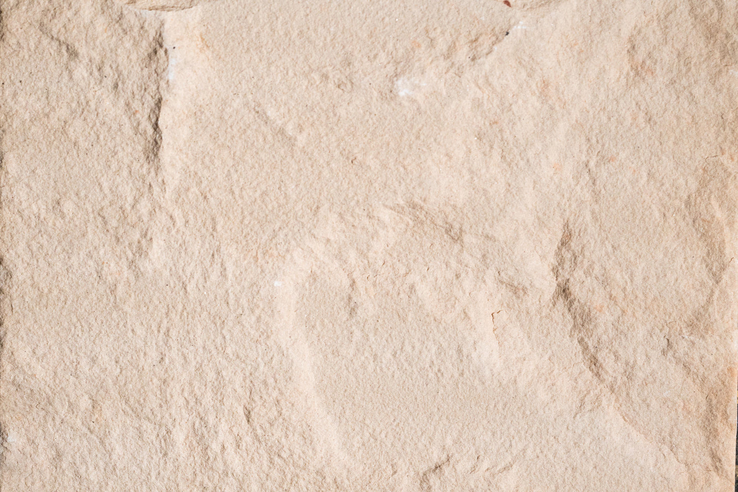 "Full Tile Sample - Peach Blossom Sandstone Tile - 16"" x 16"" x 1/2"" Natural Cleft Face, Gauged Back"