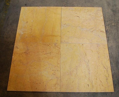 "Polished Pearl Gold Marble Tile - 18"" x 18"" x 1/2"""