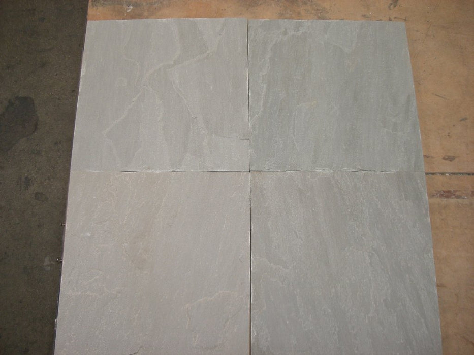 Pearl Grey Sandstone Tile - Natural Cleft Face & Back
