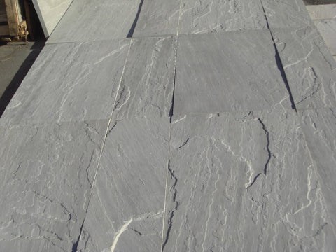 "Pearl Grey Sandstone Paver - 24"" x Random Widths x 1"" - 1 1/4"" Natural Cleft Face & Back"