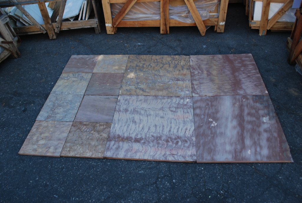 "Pink Leather Sandstone Tile - 24"" x 24"" x 1/2"""