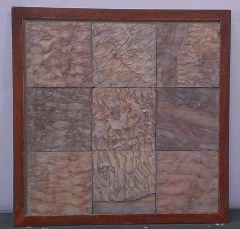 "Pink Leather Sandstone Tile - 18"" x 18"" x 1/2"" Natural Cleft Face, Gauged Back"
