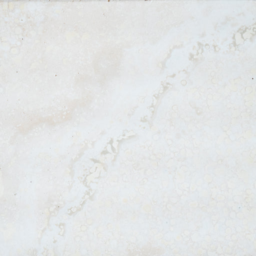 "Polar White Travertine Tile - 18"" x 18"" x 5/8"" Polished"