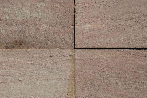 "Radiant Red Sandstone Flagstone - Random Sizes x 3/4"" - 1 1/4"" Natural Cleft Face & Back"