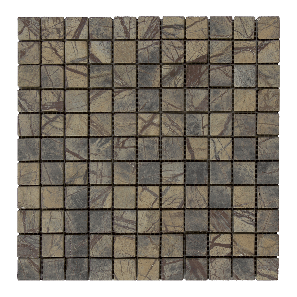 "Cafe Forest Marble Mosaic - 1"" x 1"" Tumbled"