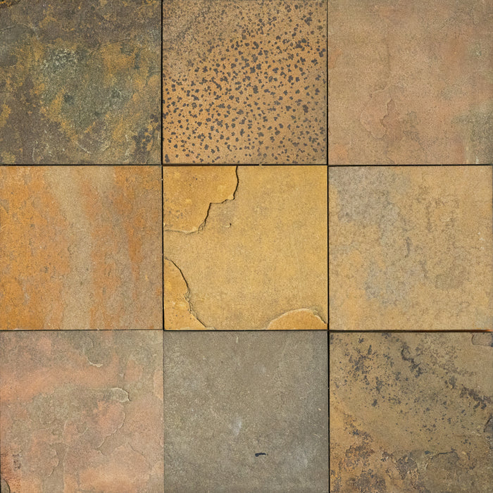 "Rosa Stone Slate Tile - 12"" x 12"" x 3/8"" - 1/2"" Natural Cleft Face, Gauged Back"