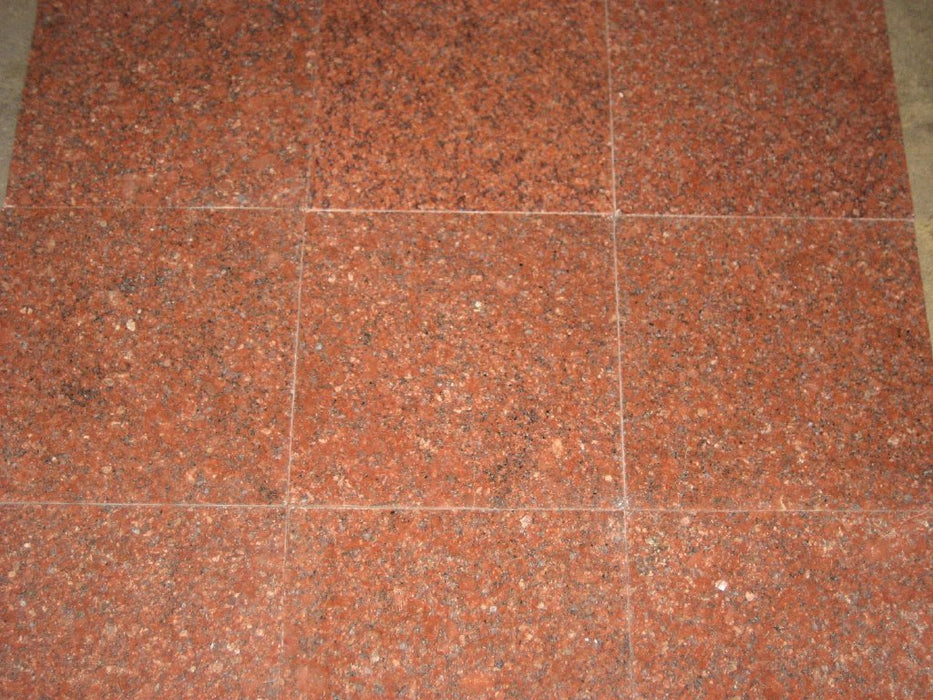 "Ruby Red Granite Tile - 24"" x 24"" x 1/2"" Polished"