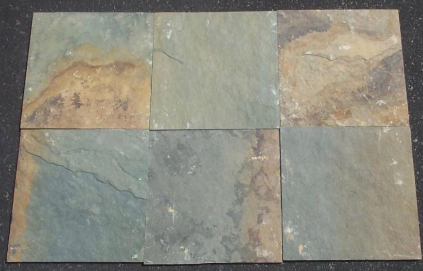 Rusty Green Slate Tile - Natural Cleft Face, Gauged Back