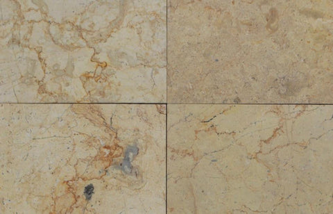 "Sahara Gold Marble Tile - 12"" x 12"" x 3/8"" Antique"