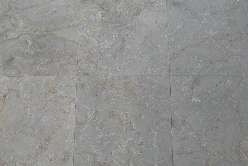 "Sahara Grey Marble Tile - 12"" x 12"" x 3/8"" Polished"