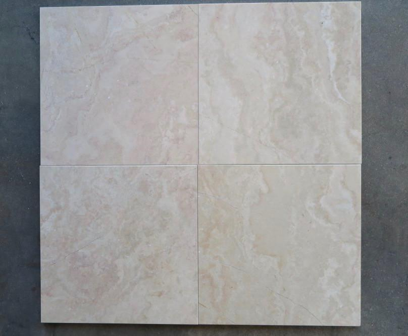 "Savanah Brown Marble Tile - 12"" x 12"" x 3/8"""