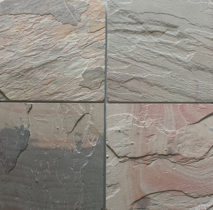"Select Pink Slate Flagstone - Random Sizes x 3/4"" - 1"" Natural Cleft Face & Back"