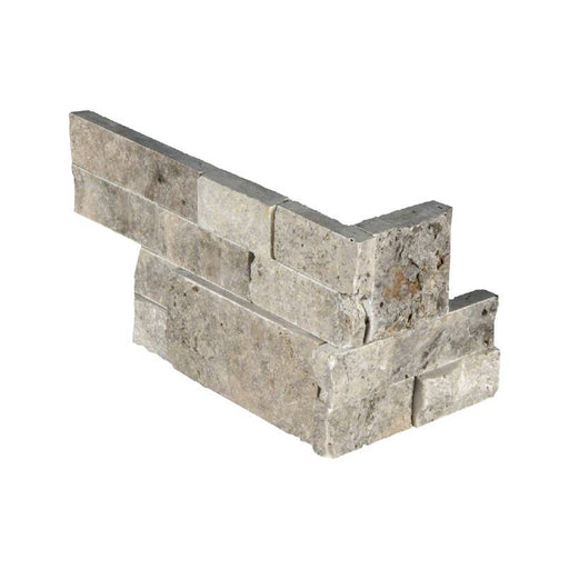 RockMount Stacked Stone Panel Silver LPNLTSIL618COR