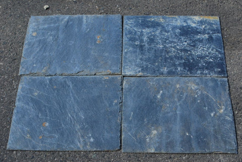 "Silver Grey Roof Tile - 8"" x 16"" x 1/4"" Natural Cleft Face & Back"