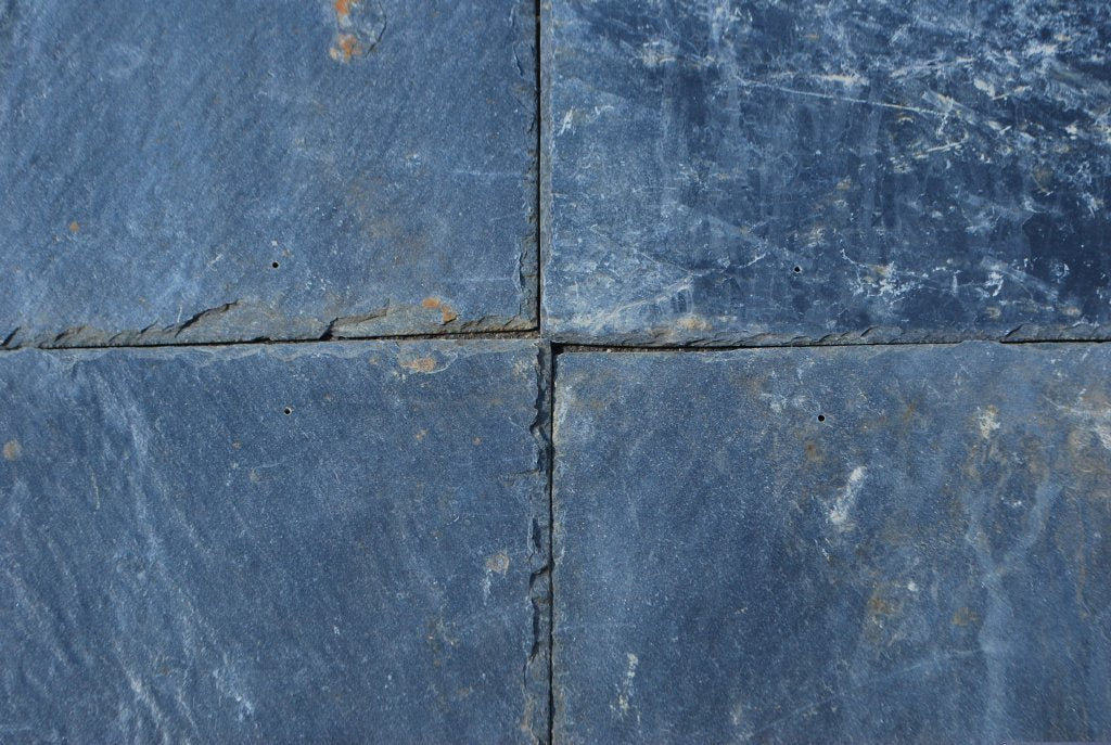 "Full Tile Sample - Silver Gray Roof Tile - 8"" x 16"" x 1/4"" Natural Cleft Face & Back"