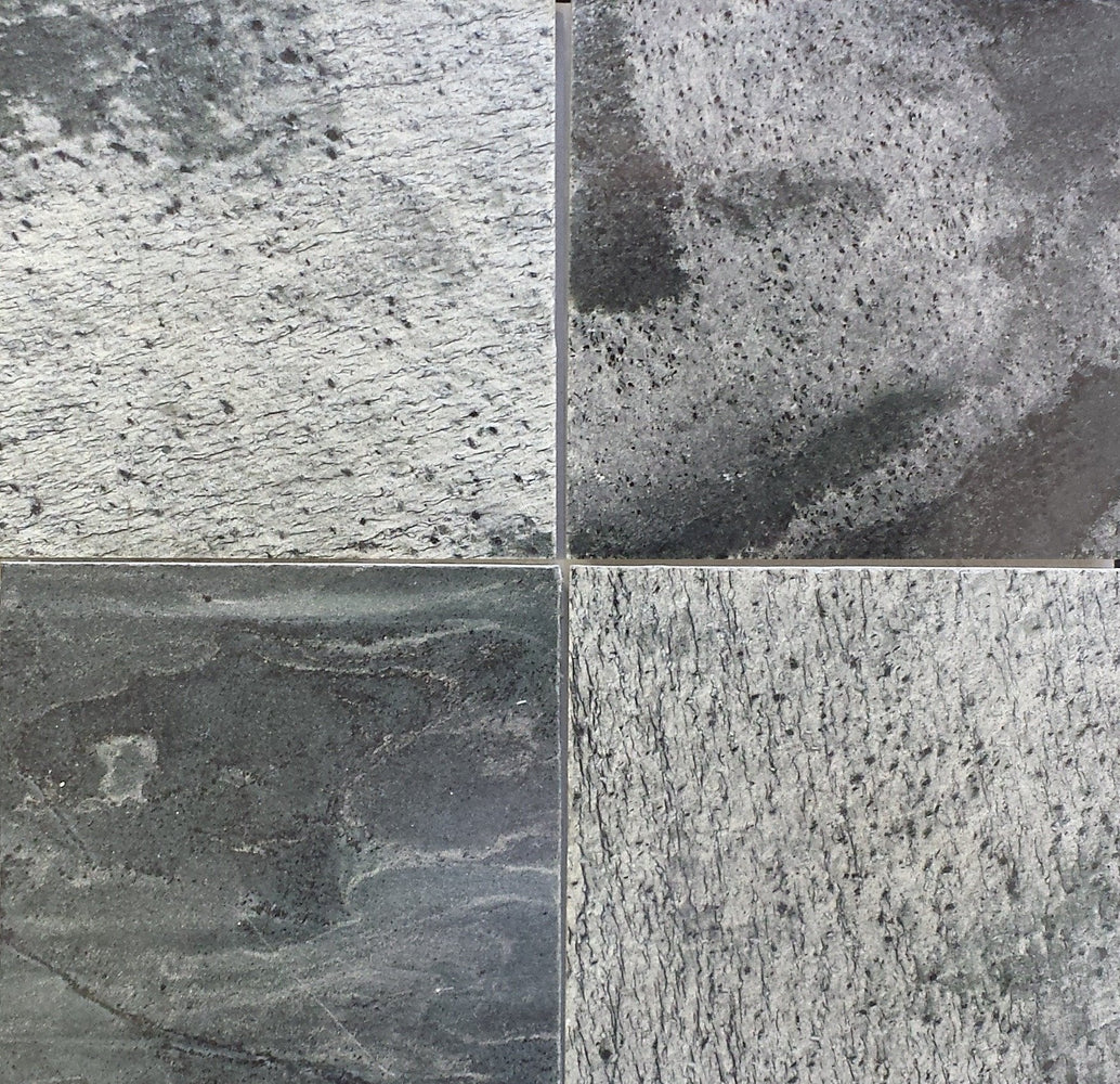 "Full Tile Sample - Silver Shine Slate Tile - 24"" x 24"" x 1/2"" Polished"