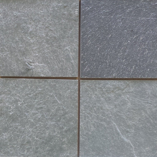 "Strata Green Slate Tile - 16"" x 16"" x 3/8"" - 1/2"" Natural Cleft Face & Back"