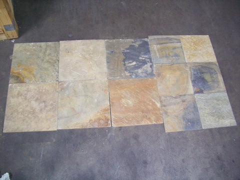 "Summer Buff Slate Tile - 16"" x 16"" x 3/8"" - 1/2"""