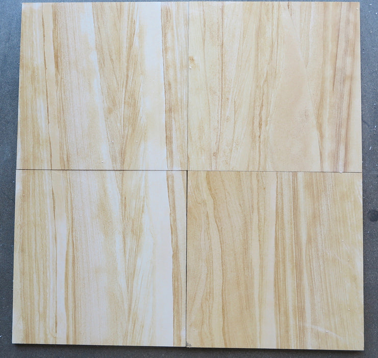 "Teakwood Sandstone Tile - 16"" x 16"" x 1/2"" Honed"