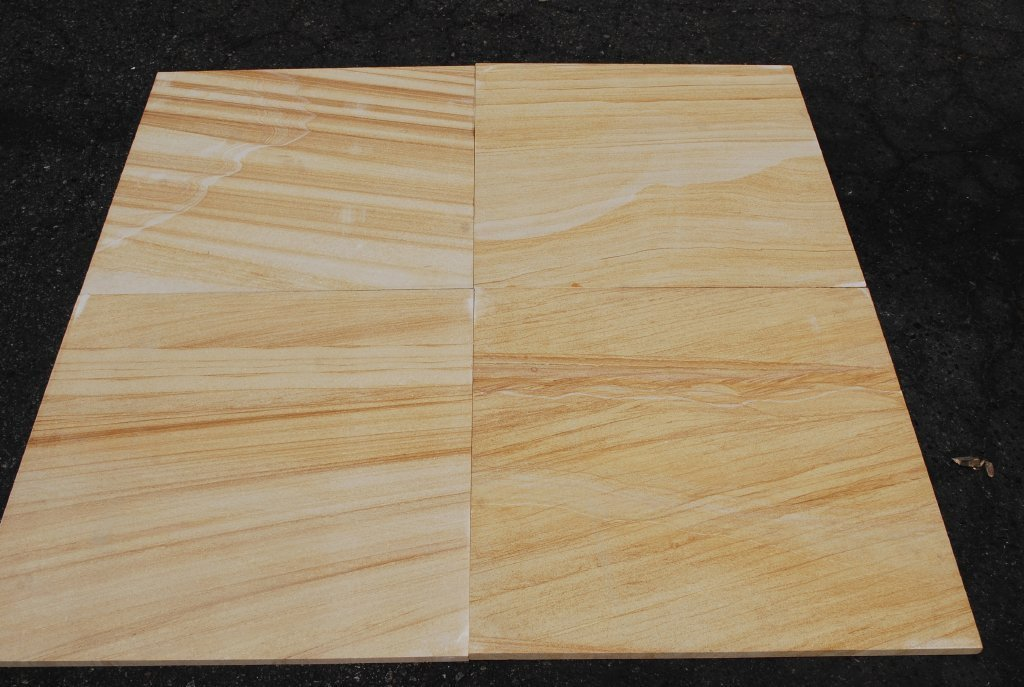 "Teakwood Sandstone Tile - 24"" x 24"" x 5/8"" Honed"