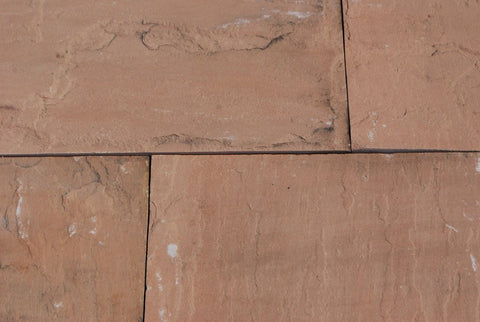 "Tea Rose Sandstone Tile - 12"" x 24"" x 1/2"" Natural Cleft Face, Gauged Back"