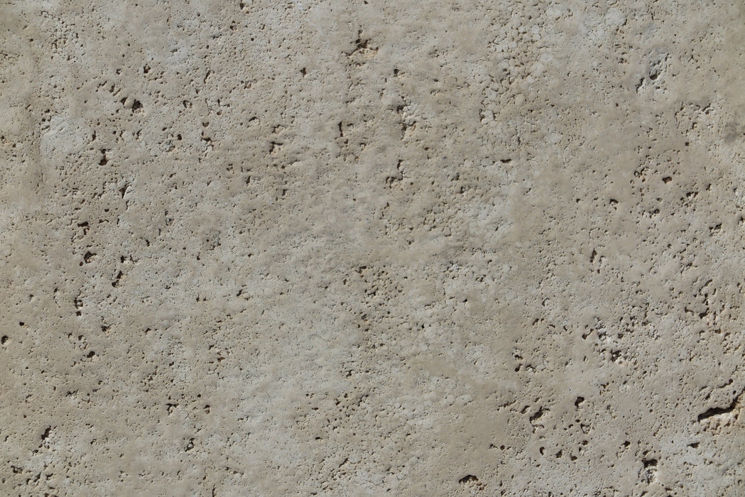 "Full Tile Sample - Turco Classico Cross Cut Travertine Tile - 18"" x 18"" x 1/2"" Chiseled & Brushed"