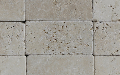"Turco Classico Cross Cut Travertine Tile - 3"" x 6"" x 3/8"" Tumbled"