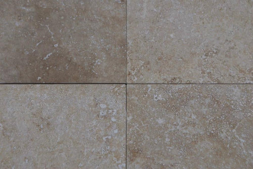 "Turco Classico Cross Cut Commercial Travertine Tile - 12"" x 12"" x 3/8"" Honed"