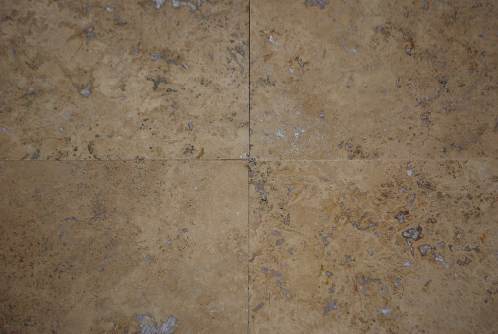 "Full Tile Sample - Walnut Travertine Tile - 18"" x 18"" x 1/2"" Polished"
