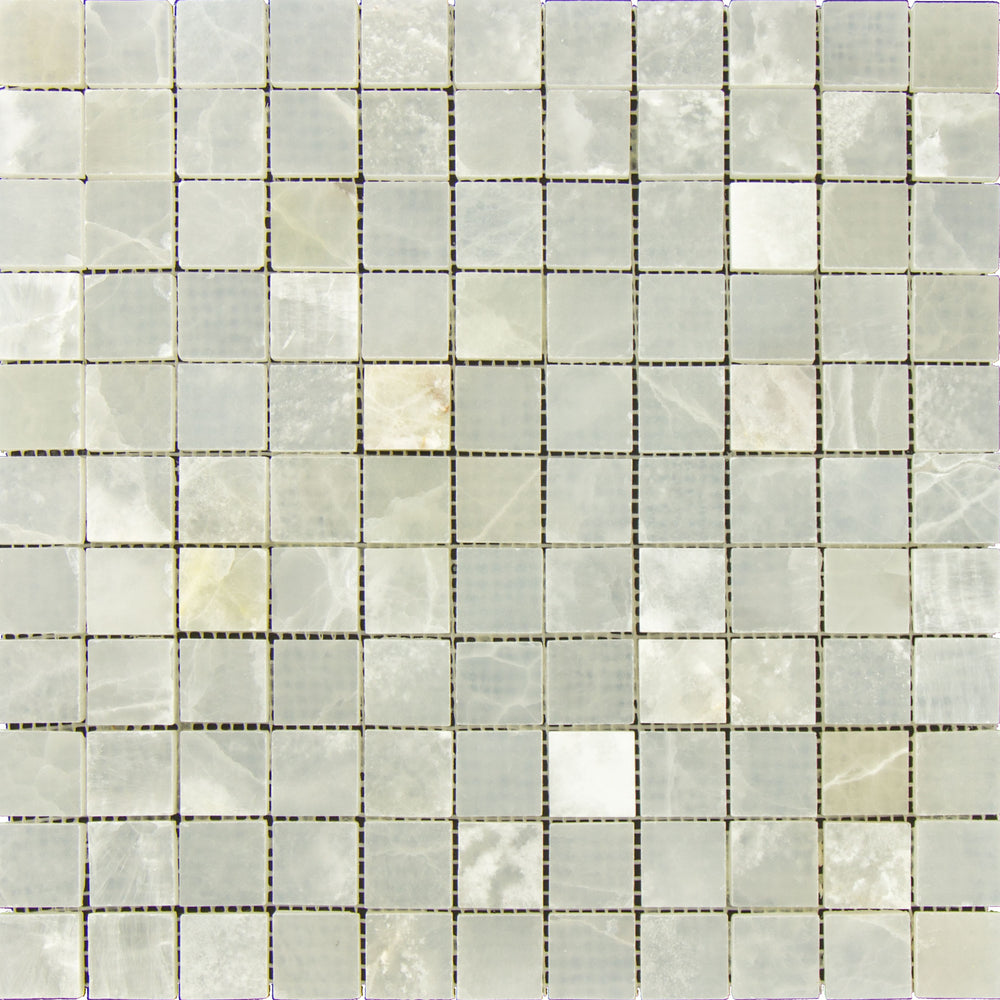 "White Onyx Mosaic - 1"" x 1"" Polished"